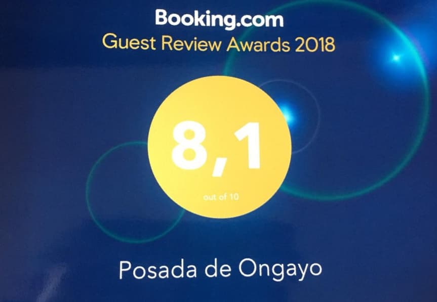 Puntuacion Booking Posada de Ongayo